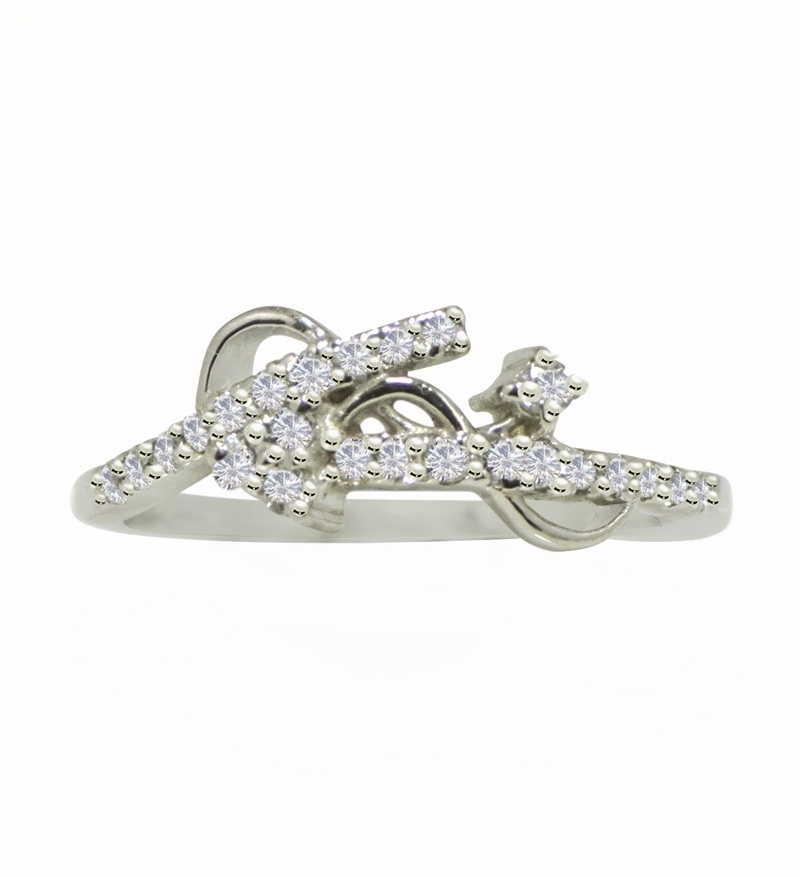 Fashionable design silver with cubic zirconia gemstone 925 sterling ring SR630