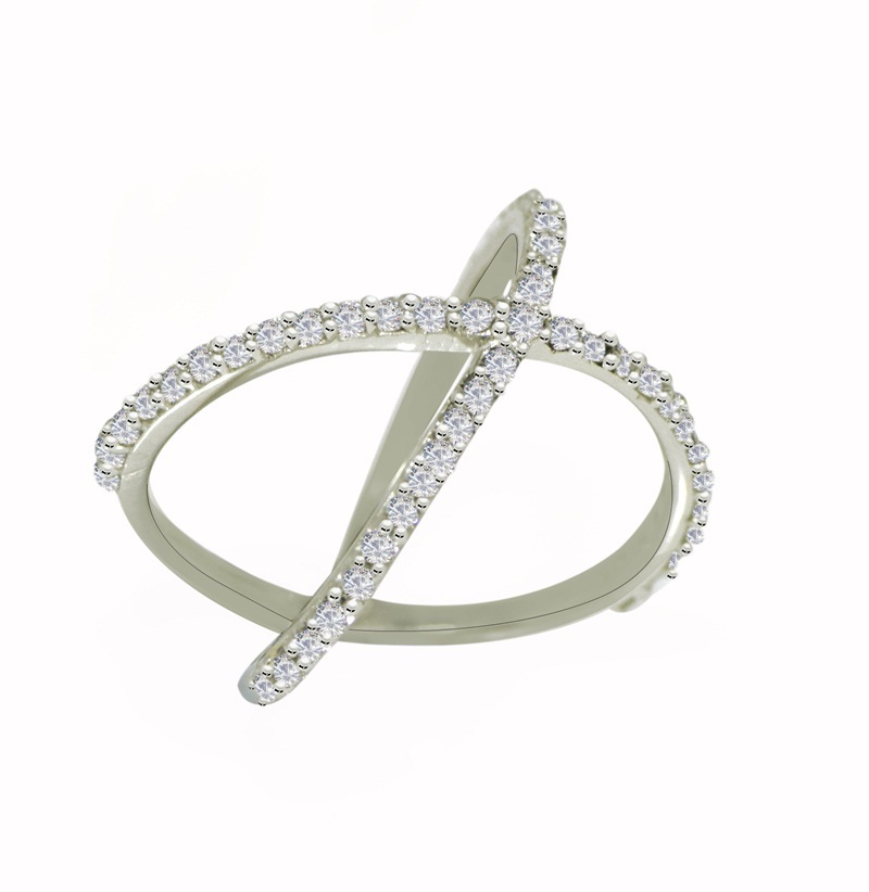 New Designer 925 Sterling Solid Cubic Zirconia Solid Gemstone Silver Ring SR638