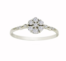 New Looking Cubic Zirconia Solid Gemstone 925 Sterling Silver Ring SR642 - £4.58 GBP