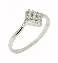 Pure 925 Sterling Silver Ring with Cubic Zirconia Gemstone Silver Ring S... - $6.39