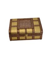 "Sandook Ethnic Indina Bangles Braclet  Box - 10.5"" X 8"" X 4"" with gold c... - $49.99"