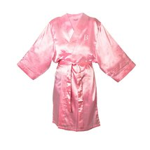 Cathy's Concepts Personalized Pink Satin Robe, ... - $29.65