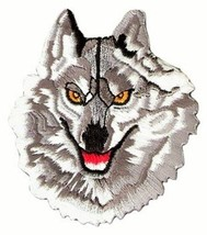 "Wolf Back Patch Large Badge 8""x8.5"" Embroidered Backpatch Iron On Biker ... - $22.72"