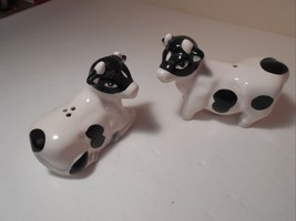 "cow Salt & Pepper Shakers Ceramic Vintage 4"" Lgth 4.5 lgth VGC CUTE - €9,95 EUR"