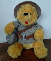Disney Safari Pooh Bear Stuffed Plush Animal Kingdom Hat Bean Bag - $14.85