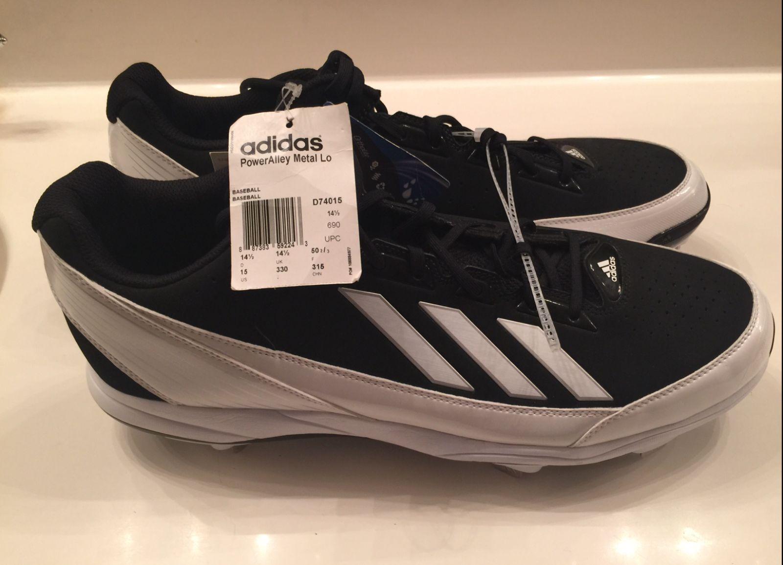 new adidas poweralley metal baseball cleats spikes black
