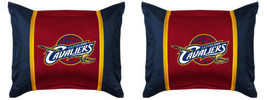 Set of 2 NBA Basketball Cleveland Cavaliers Standard Pillow Shams Pillow... - $56.42