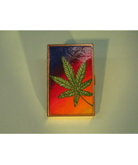 Beautiful Hippie Mary Jane Stash Enameled Leaf Box Vintage 1970's - $365.00