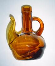 Vintage Amber Glass Spouted Cruet Bottle - $24.99
