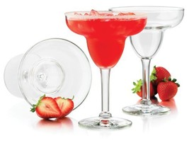 Libbey 9Ounce Preston Margarita Glass Clear 4Piece h650 l938 w938 w288 8... - $52.93