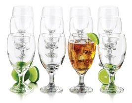 Glassware Libbey 12Piece Goblet Party Glass 1625Ounce Clear 3716S12 Kitchen - $55.70