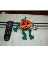 PUMPKIN The Pumpkin TY BEANIE BABIES Plush Toy - NEW, RARE, RETIRED w/ER... - $39.99