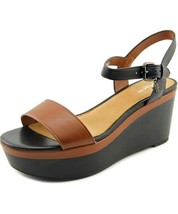 COACH 'Brittanie' Leather Wedge Platform Sandals Size 8.5 $200 Retail NEW - $72.95