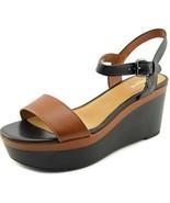 COACH 'Brittanie' Leather Wedge Platform Sandals Size 8.5 $200 Retail NEW - $72.95