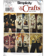 Simplicity 7032 Pattern 6 8 10 Fall holidays applique Jacket Christmas H... - $7.77