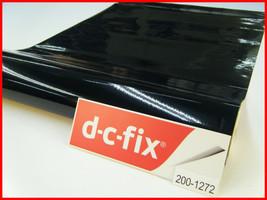 DC Fix Black Gloss Self Adhesive Vinyl 17.7'' x 39.3'' Contact Paper 200-1272 - $10.25