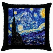 Throw Pillow Case Decorative Cushion Cover Vincent Van Gogh Starry Night... - £13.01 GBP
