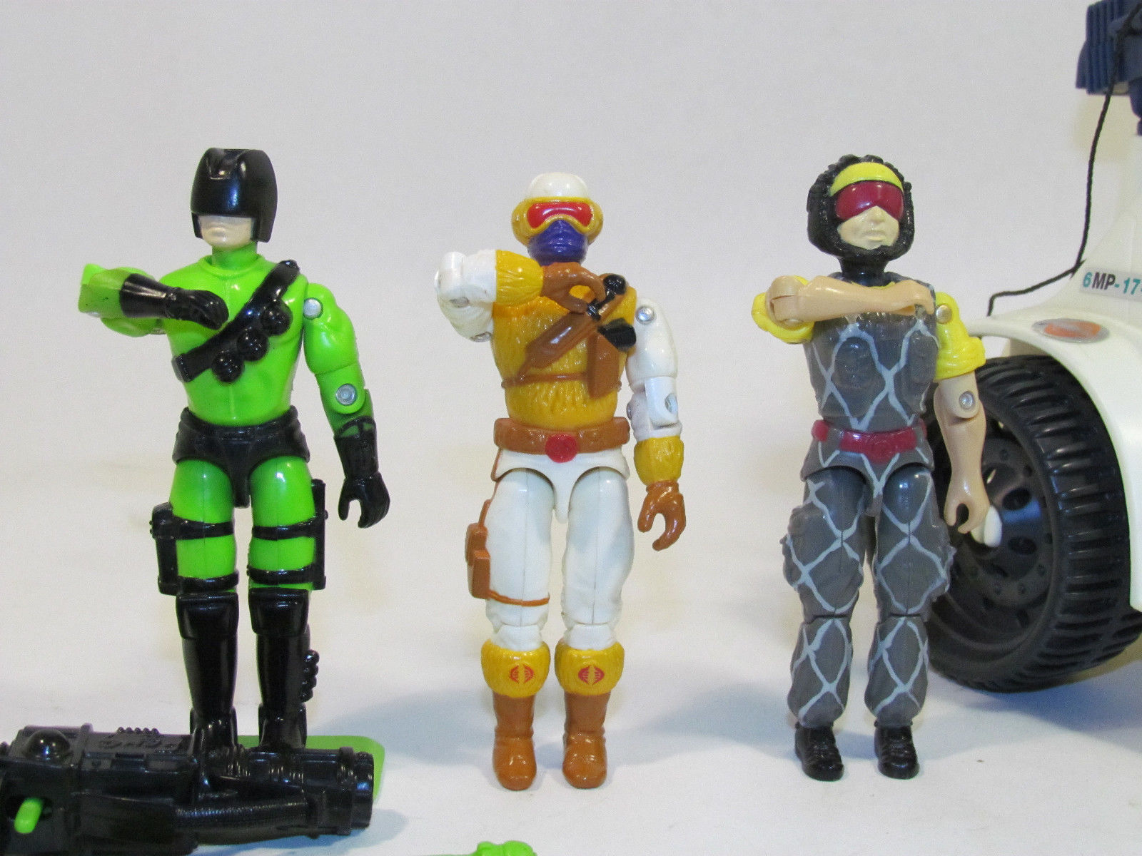 Vintage 1993 GI G.I. Joe ARAH Ice Snake with Heat Viper, and More