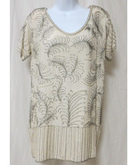 Vintage Flapper Blouse Top Beaded Silk Costume ... - $197.99