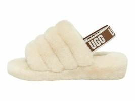 UGG Fluff Yeah Slide Natural Women's Sheepskin Slipper Sandal 1095119 - $91.00
