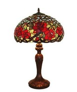 TIFFANY STYLE HAND-CRAFTED RED ROSES TABLE LAMP 24 IN - $229.00