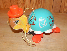 Vintage 1962 Fisher Price TURTLE PULL TOY #773  - $14.49