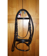 Bobby's FULL Black/BRASS Padded Flash Dressage Bridle w/Reins -Regular C... - $165.00