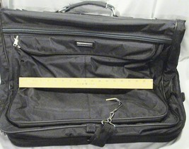 Large Vintage Retro 1970s American Tourister Black Garment Bag Luggage S... - $65.95