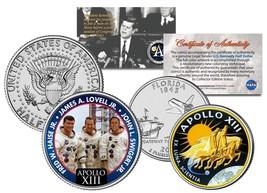 APOLLO 13 SPACE MISSION 2-Coin Set US Quarter & JFK Half Dollar NASA AST... - $12.95