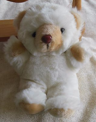 Primary image for Becky Bear White  Plush Stuffed Animal Made in Korea 11""