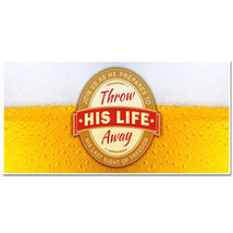 Throw His Life Away Beer Bachelor Party Banner - £17.62 GBP