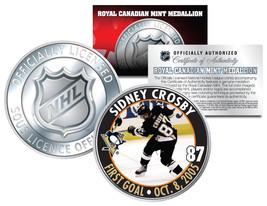 2005-06 SIDNEY CROSBY Royal Canadian Mint Medallion NHL FIRST GOAL Rooki... - $8.95