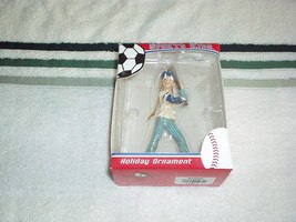 "Kurt S. Adler Sports Kids Baseball Girl Ornament 4.5"" Figurine On Hanger - Rare - $23.00"