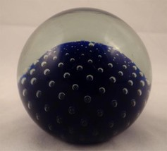 LOVELY CONTROLLED BUBBLE COBALT BLUE SIGNED PAP... - $27.39