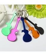 UR Kitchen Gadgets Colored Metal Guitar Keychai... - $7.91