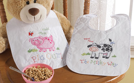 On The Farm Bibs Stamped Cross Stitch Kit-9 Inch X 14 Inch Set Of  046109455693 - $13.09