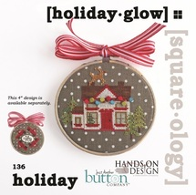 Holiday Glow Squareology cross stitch chart Just Another Button Company   - $6.30