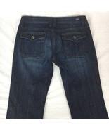 Vigoss Stuido Womens Jeans Boot Cut Flare Low Rise Dark Wash Stretch Siz... - $28.41