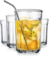 Glas Durable Set of 4 Clear Working Glasses 21o... - $30.41