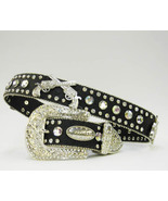 S or  M  RHINESTONE GUN SHOOTER Black  BUCKLE ATLAS BLING WESTERN COWGIR... - $74.99