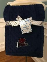"Nwt Zak & Zoey Navy Football Champ Baby Blanket Minky 30"" X 40"" - $14.24"