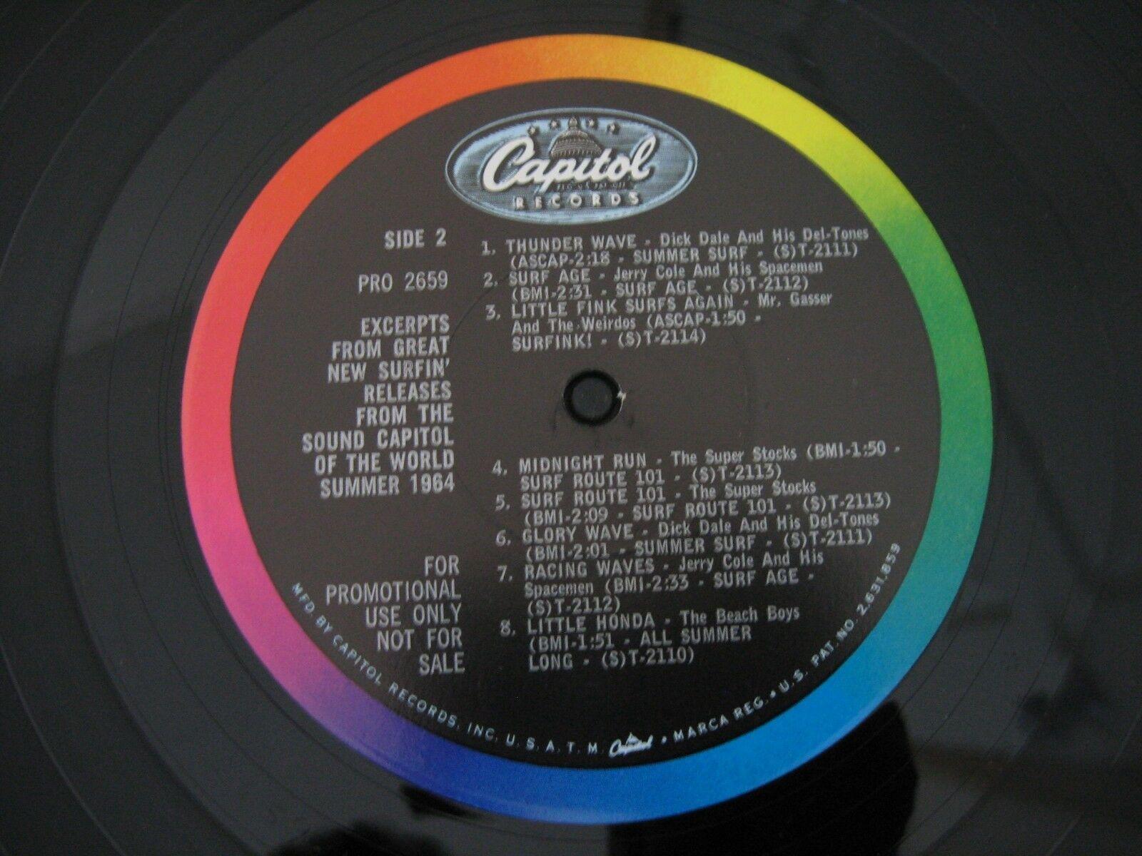 Big Surfing Sounds Are On Capitol PRO2658 Mono RARE Promo Beach Boys Dick Dale image 5