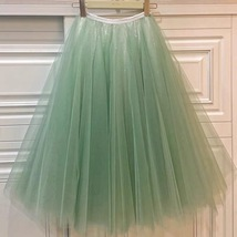 Carrie Bradshaw Tulle Skirt Outfit Plus Size Midi Tulle Green Tutu Holiday Skirt image 6