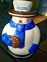 2000 Houston Harvest Nabisco Oreo Snowman Cookie Jar  - $17.99