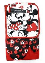 Disney Oven Mitt 3 piece Kitchen Towel Set Minnie Mickey Mouse Strolling... - $13.71