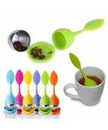 UR Drinkware Silicone Leaf Tea Strainer Teaspoo... - $7.91