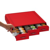 Mind Reader Anchor Triple Drawer single serve coffee pod holder Red TRAY... - $18.76