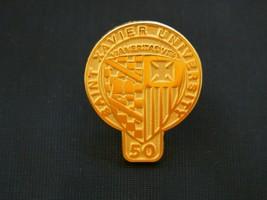 "Vintage St. Xavier University Tie Tack Accessory Lapel Pin Gold Tone 1""  - $18.68"