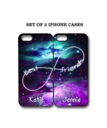 Personalized Mint Purple Nebula BFF Best Friends Case - 2 Cases For iPho... - $23.99