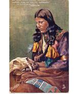 Indian Maiden Tucks Song of Hiawatha Vintage Post Card  - $15.00